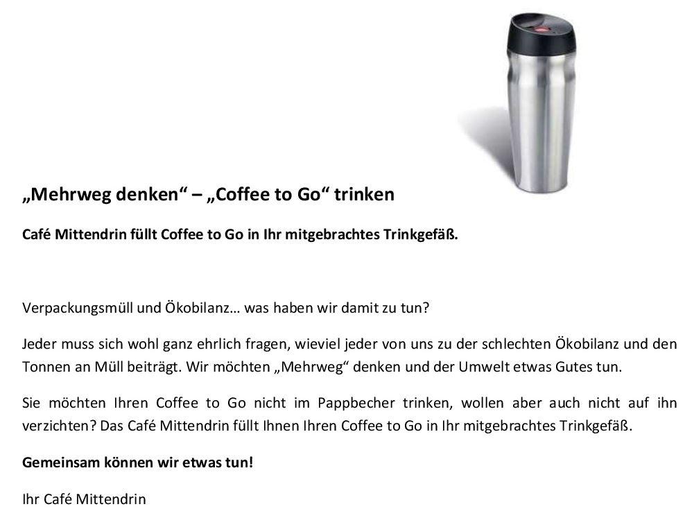 Kaffee auffüllen